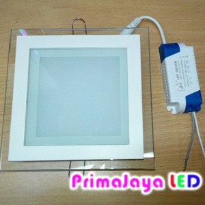 LED Downlight Kotak Kaca 12 Watt