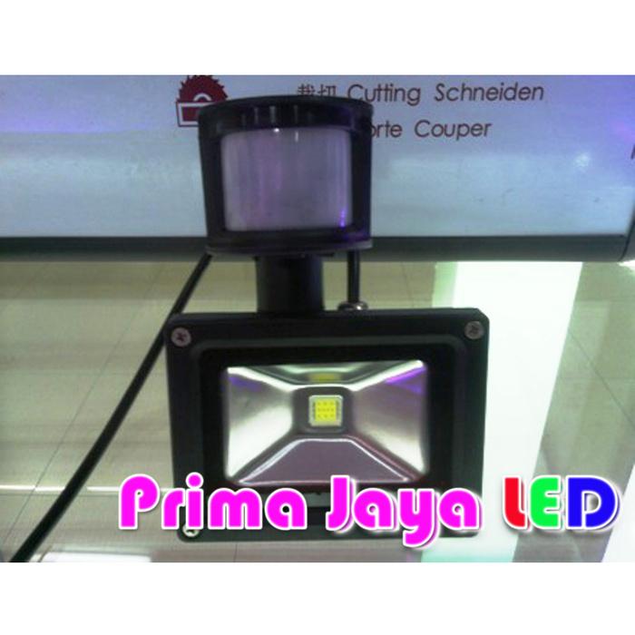 Lampu Sorot LED Sensor Gerak 10 Watt