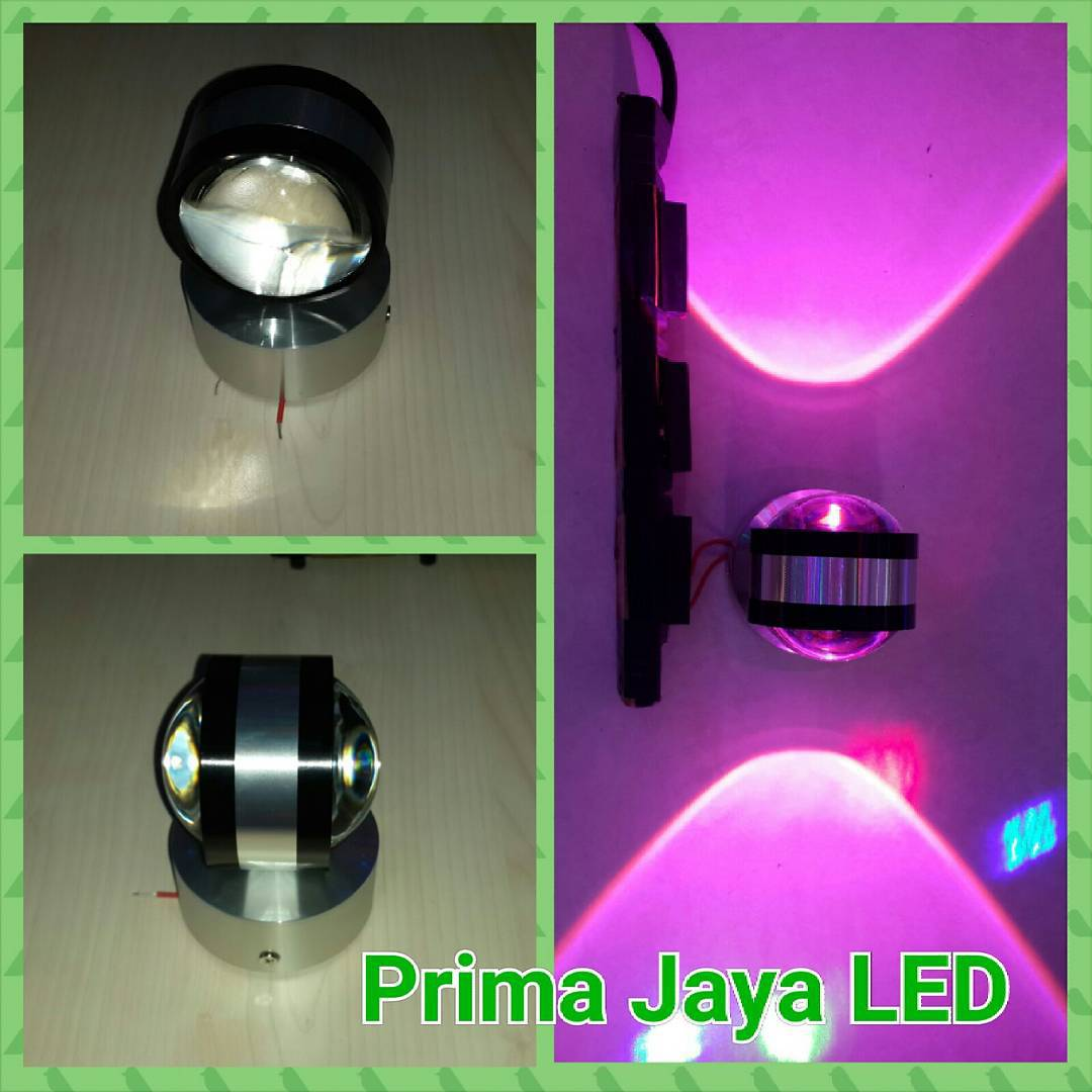 Interior LED dua sisi Pink