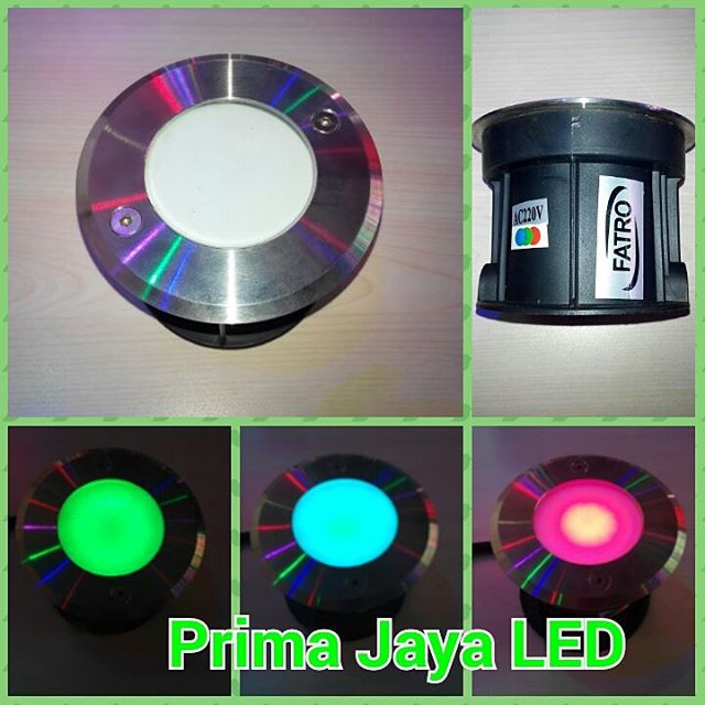 Lampu Lantai RGB Model Tanam