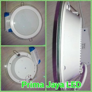 LED Downlight Bulat Kaca 18 Watt
