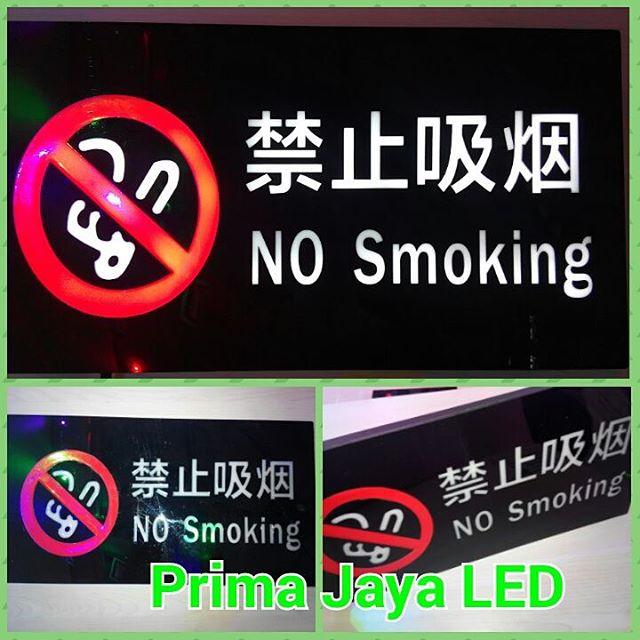 LED Peringatan No Smoking