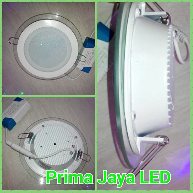 LED panel Bulat Kaca 12 Watt