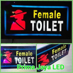 Lampu LED Petunjuk Toilet Female