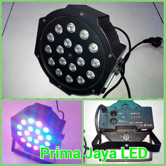 Lampu Par LED 18 x 3 Watt RGB