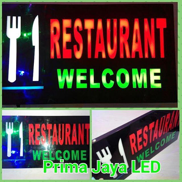 Lampu Petunjuk Restorant Welcome
