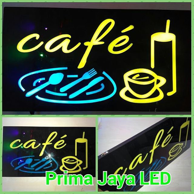 Lampu Sign Cafe LED
