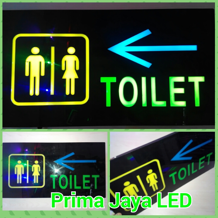 Lampu Sign LED Toilet Panah