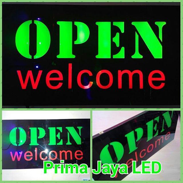 Lampu Teks LED Open Welcome