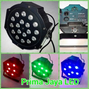 Mini par LED 18 x 1 Watt RGB