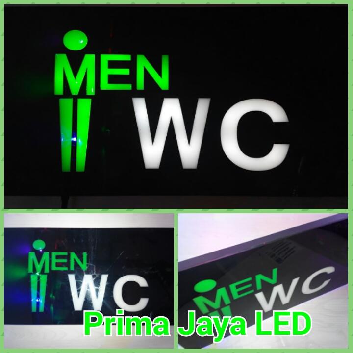 LED Sign Lampu WC Cowo