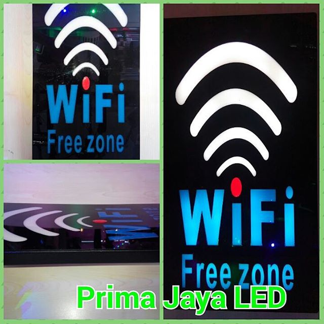 LED Tulisan WIfi Free Zone