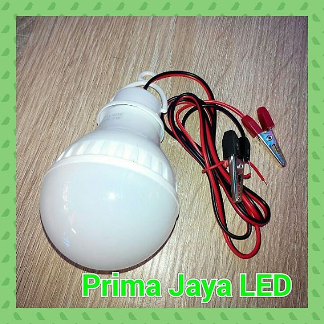 Lampu LED Kabel Aki 5 Watt