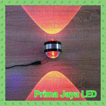 LED Dinding Dua Arah 6 Watt Merah