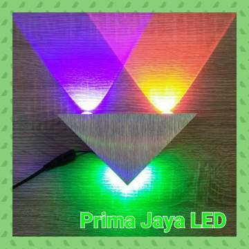 Lampu LED Interior Dinding Segitiga 3 Watt