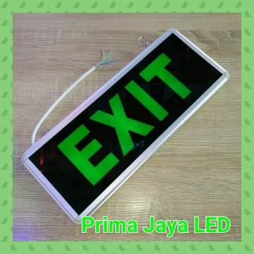 Emergency Exit Sign Model Kaca