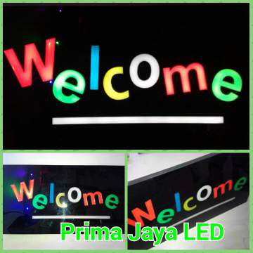 Sign LED Lampu Tulisan Welcome