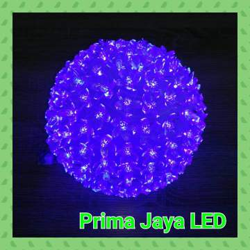 Bola LED Gantung Biru 200 Light