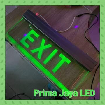 Green Sign Exit Premium Glass 25 x 160 cm