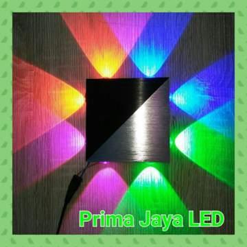 Interior LED Persegi 8 watt RGBV 13075
