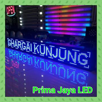 LED Display Teks Biru 165 x 21 cm