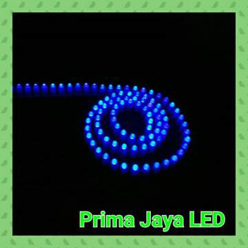LED Peluru 12 V Biru