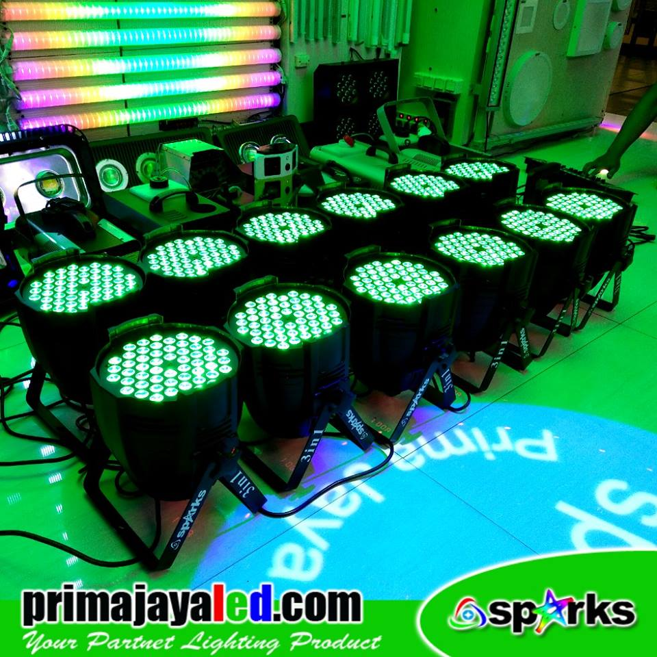 Paket 12 Par LED 54 3in1 RGB
