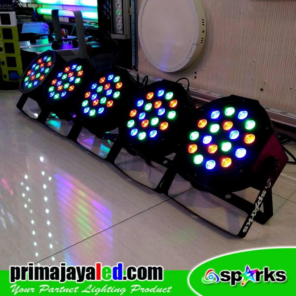 Paket 5 Par LED 18 RGB