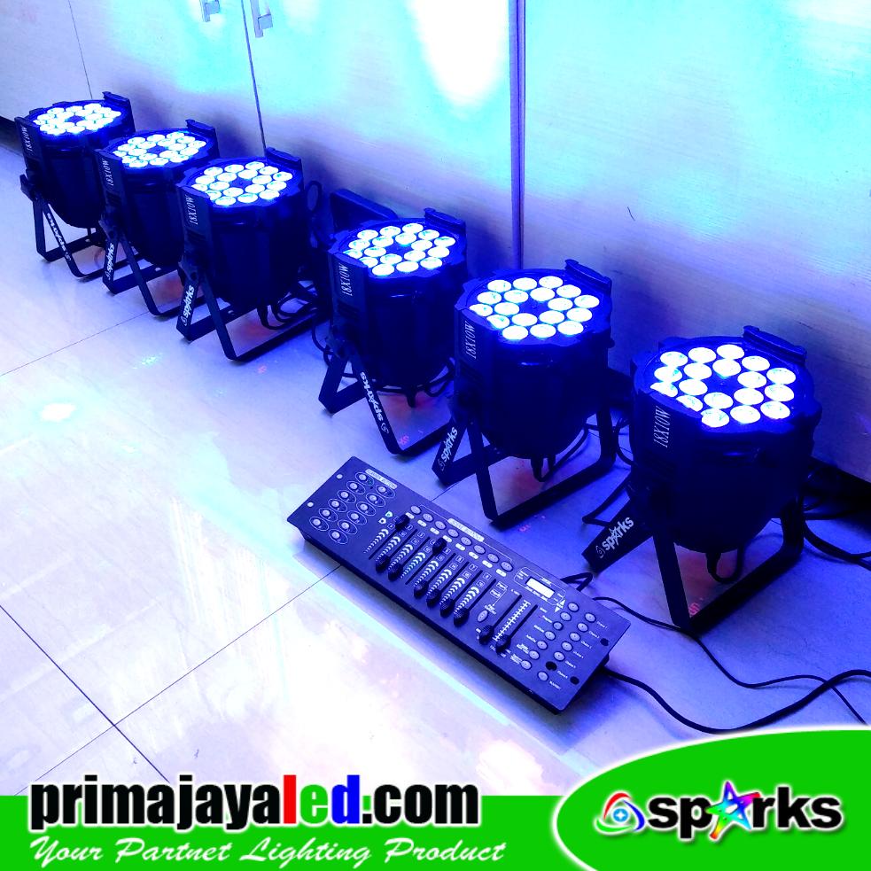 Paket DMX Set 6 Par LED 18 x 10 W