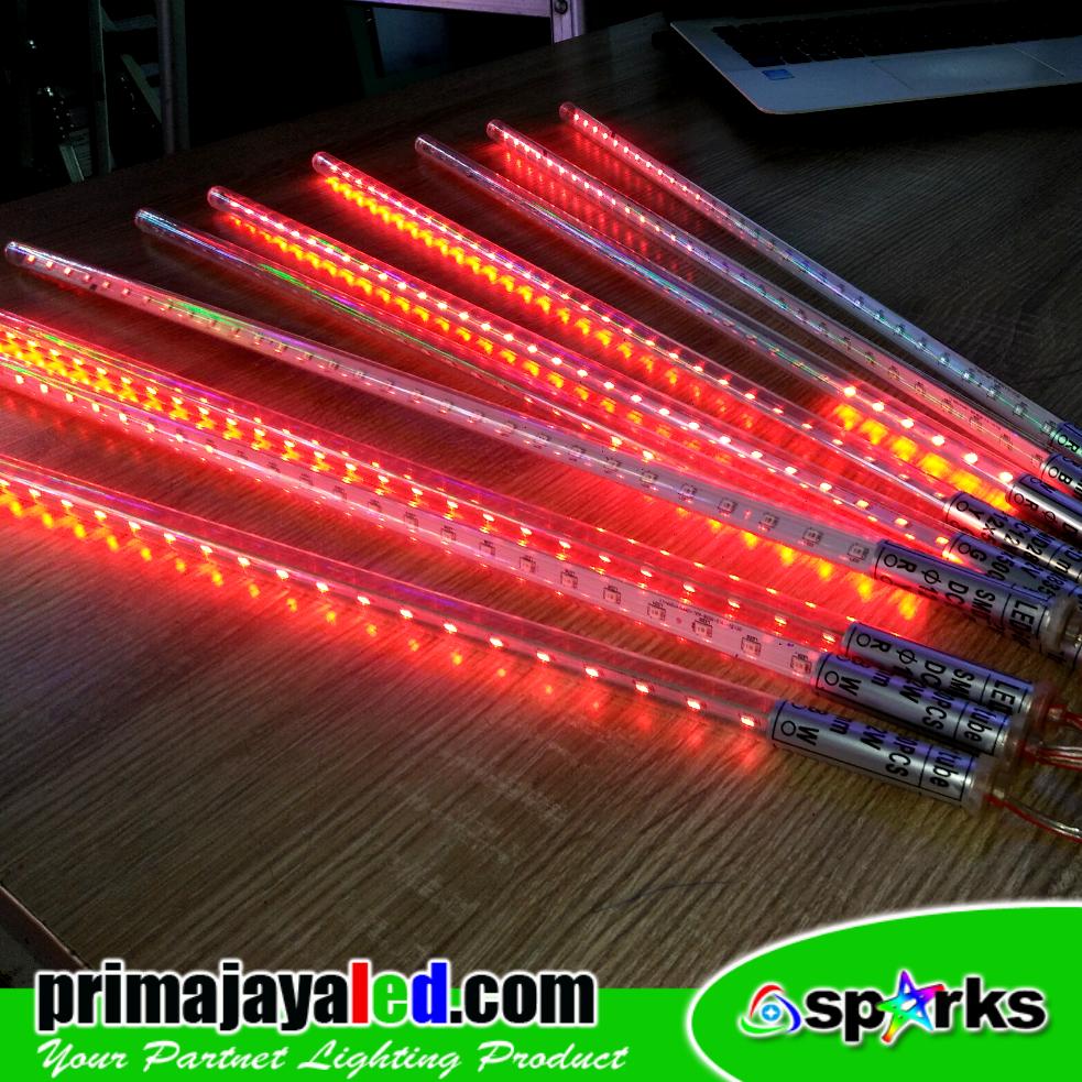 Set Meteor LED 50cm Merah