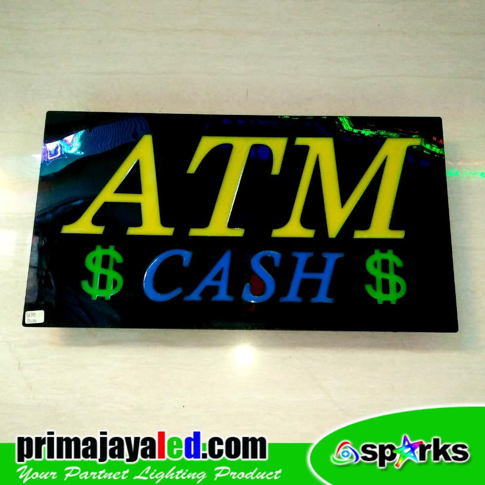 Sign LED ATM Cash