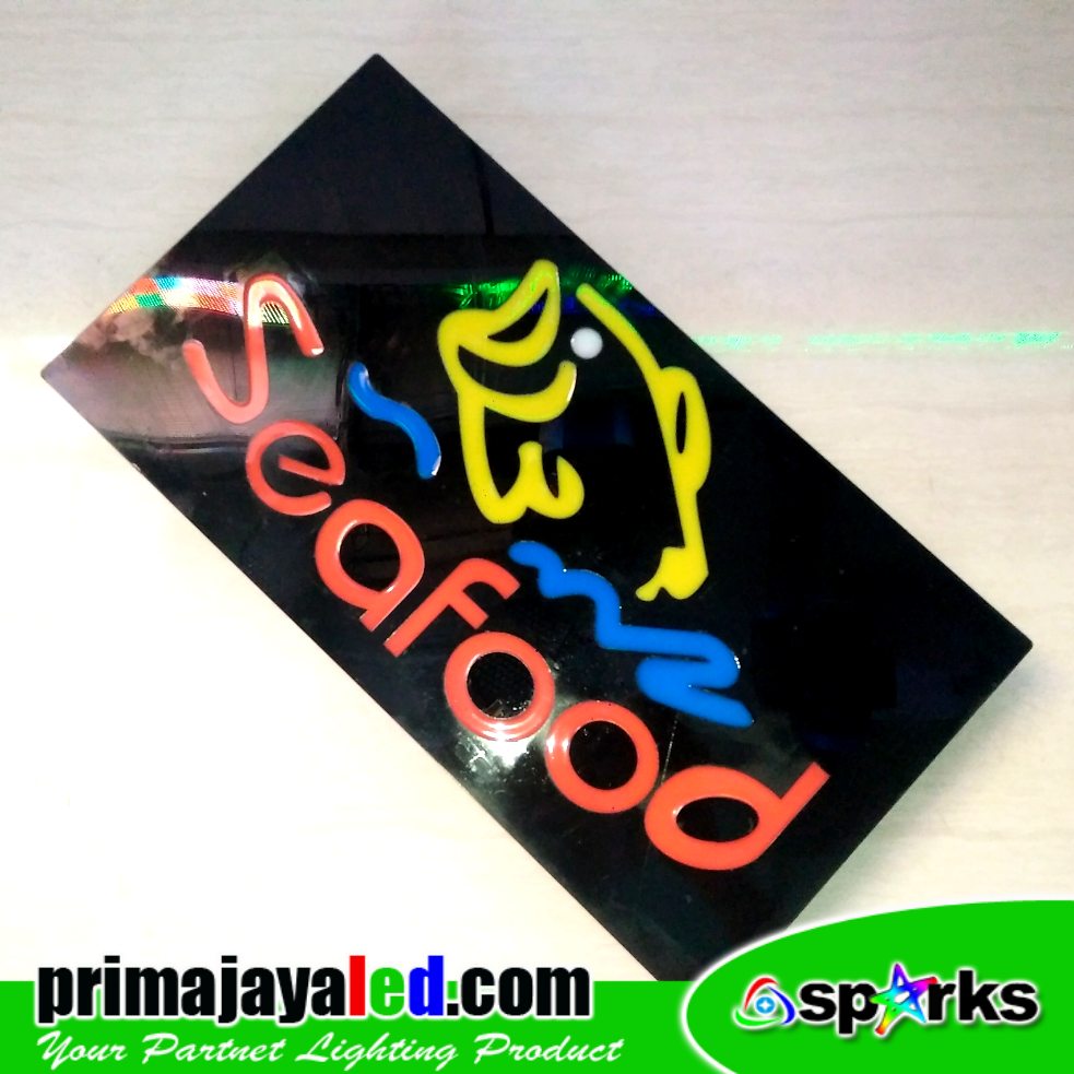 Sign LED Seafood Resto