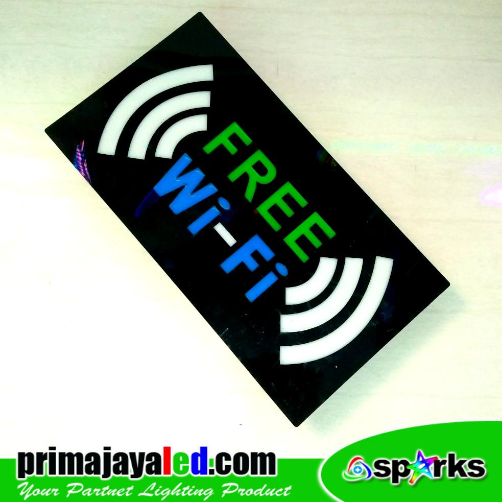 Sign LED Wifi Hijau Biru 2 Sinyal