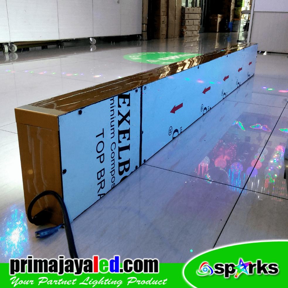 LED Running Teks Putih 2 Meter