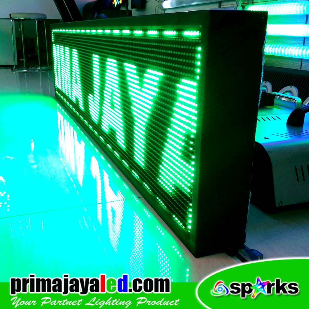 Running Teks LED 165 x 37cm Hijau
