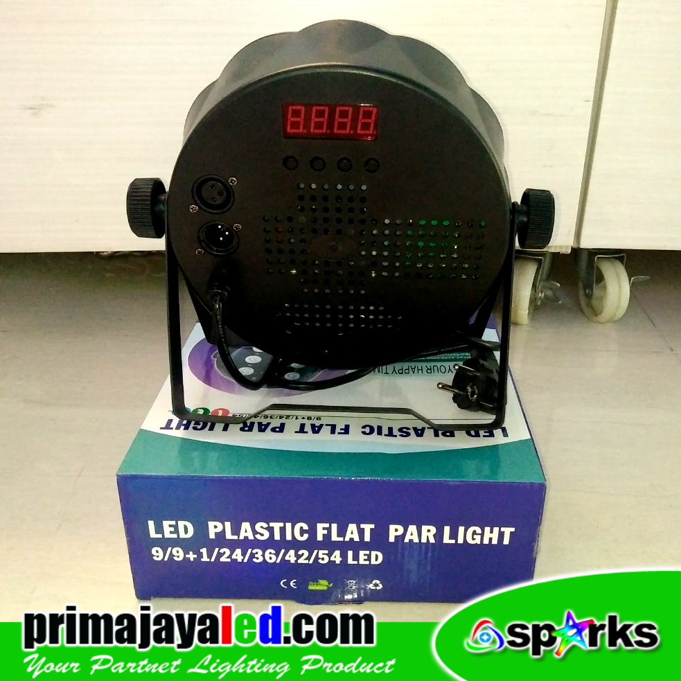Review LED Plastik Flat Par Light