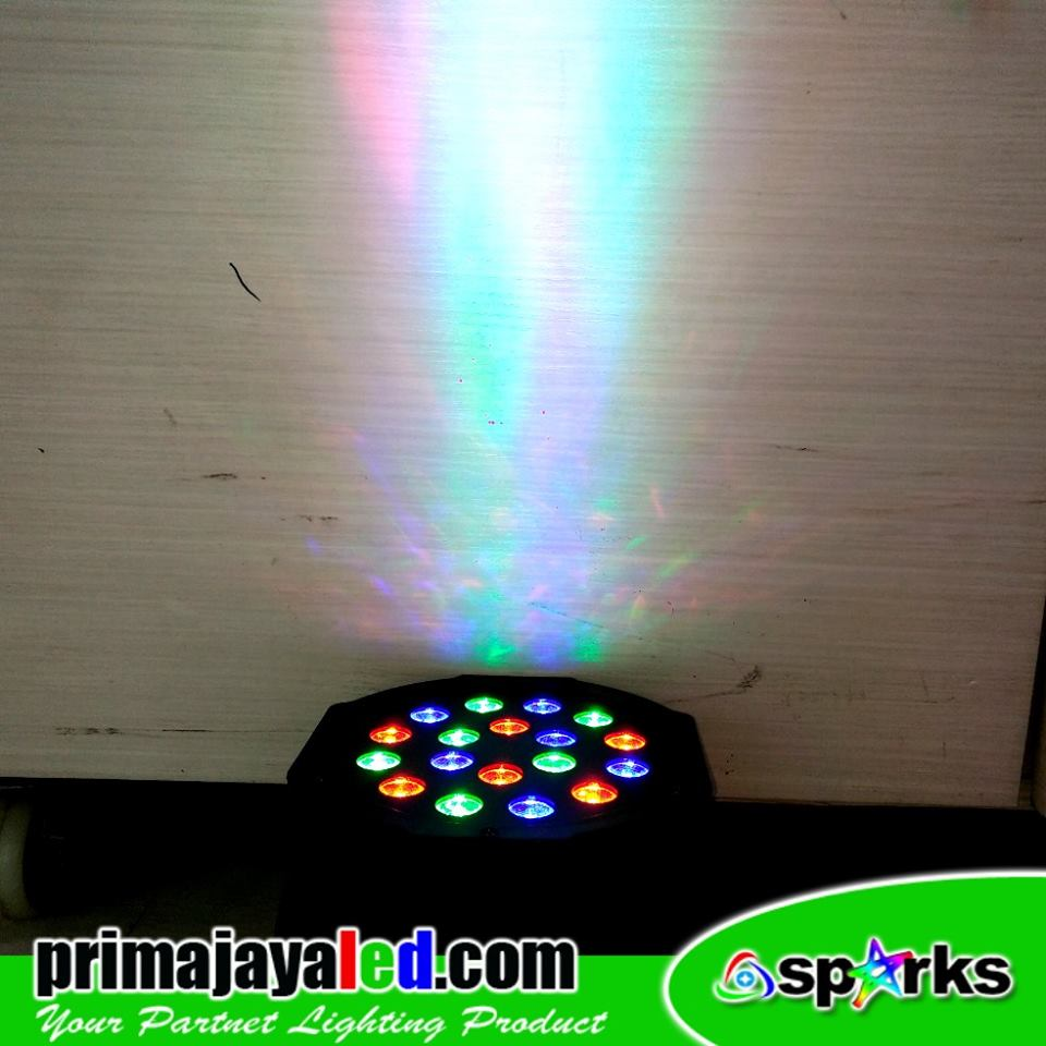 Mini Par LED 18 RGB