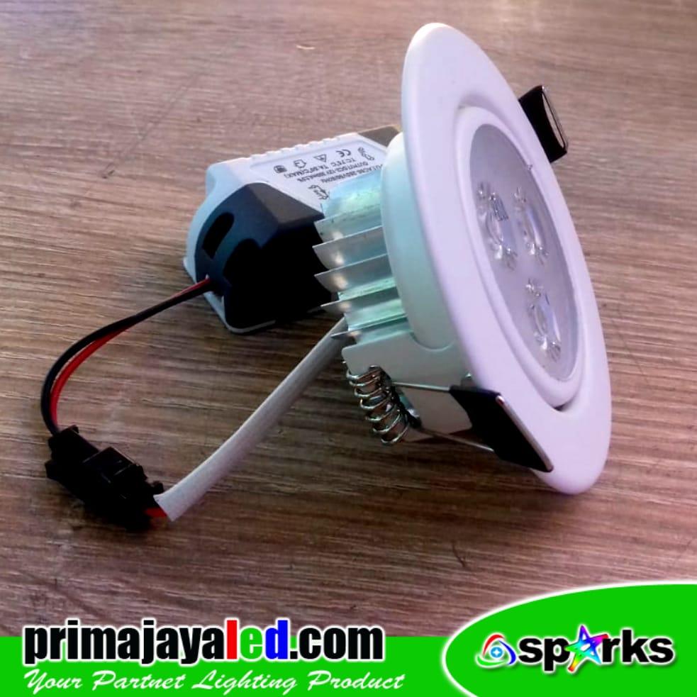 Ceiling LED Body PUtih 3 Watt