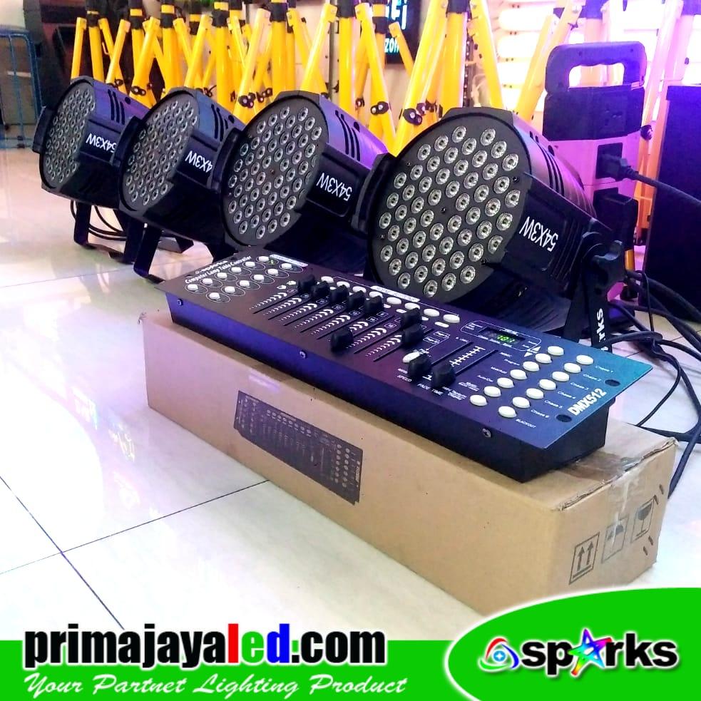 Paket Set 4 LED Par 54 RGBW DMX 512