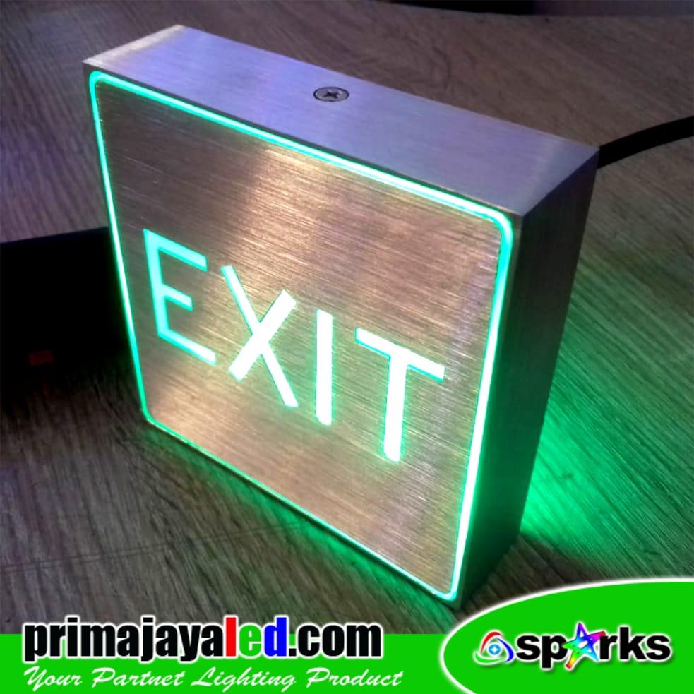 Sign Exit Kotak Aluminium 10cm