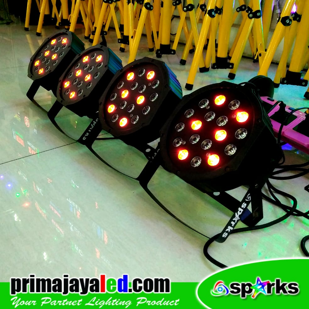 Paket Mini Par LED 18 Set 4