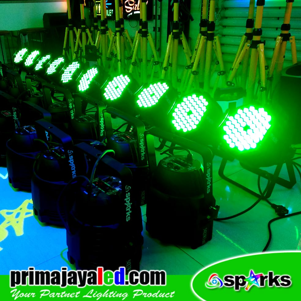 Paket Set 10 Par LED 54 3in1 RGB