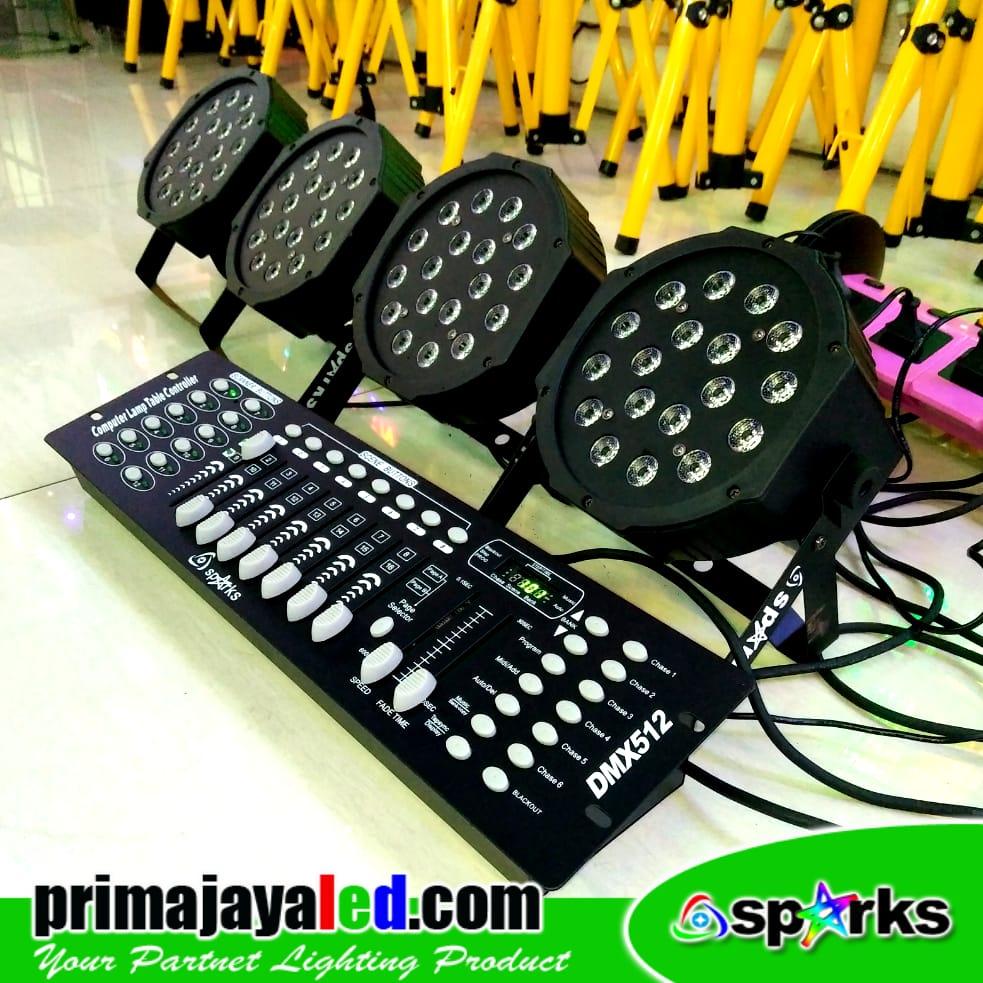 Paket Set 4 Par LED 18 DMX 512