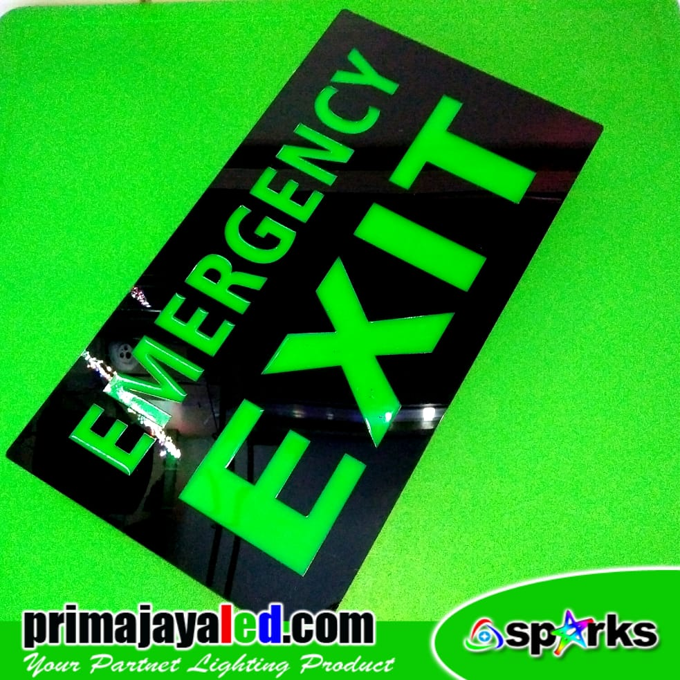 LED Lampu Sign Exit Emergency Hijau