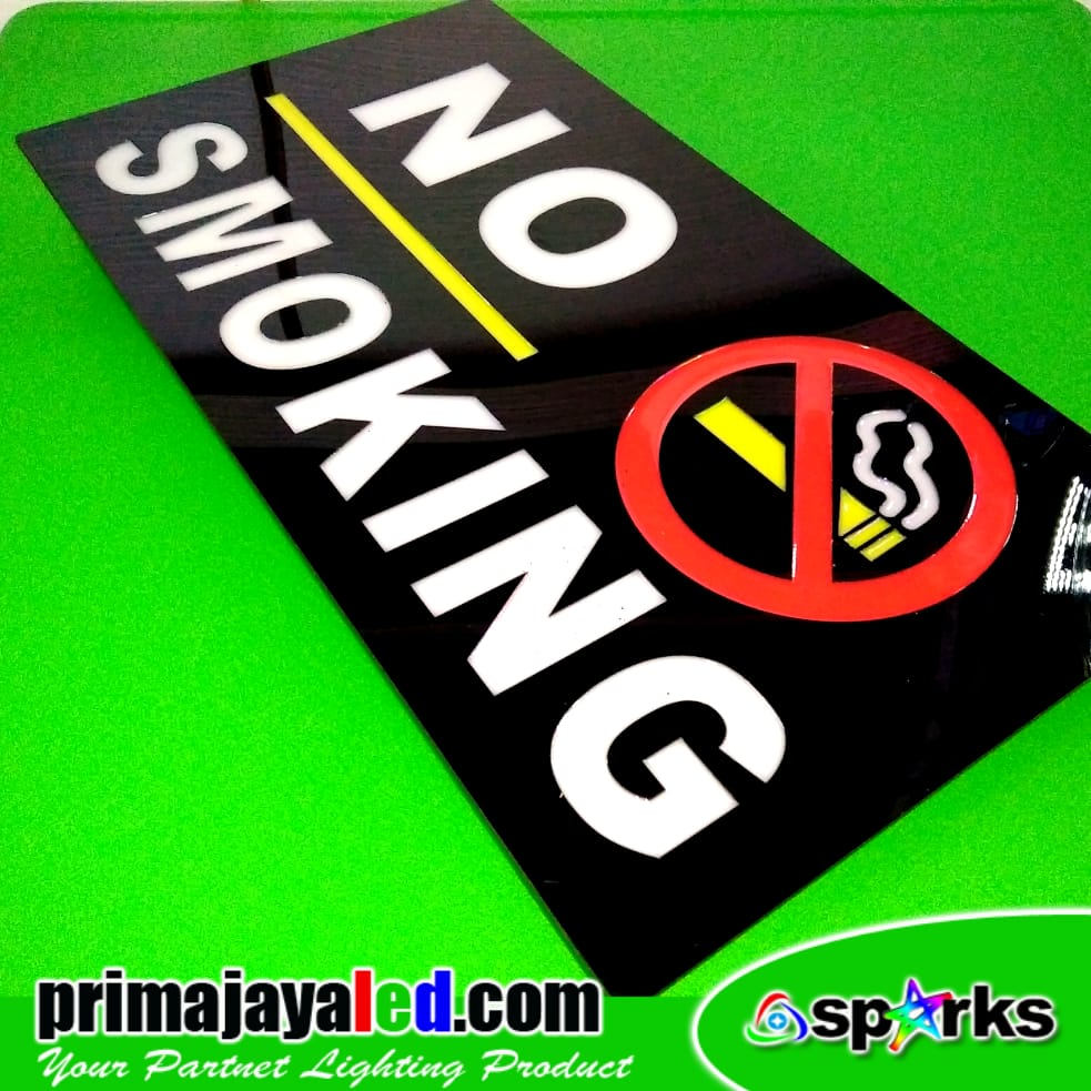LED Lampu Sign No Smoking