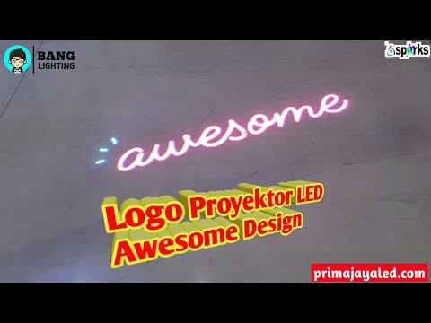 Logo Proyektor LED Awesome Design