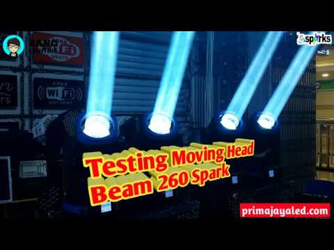 Testing Moving Head Beam 260 Spark
