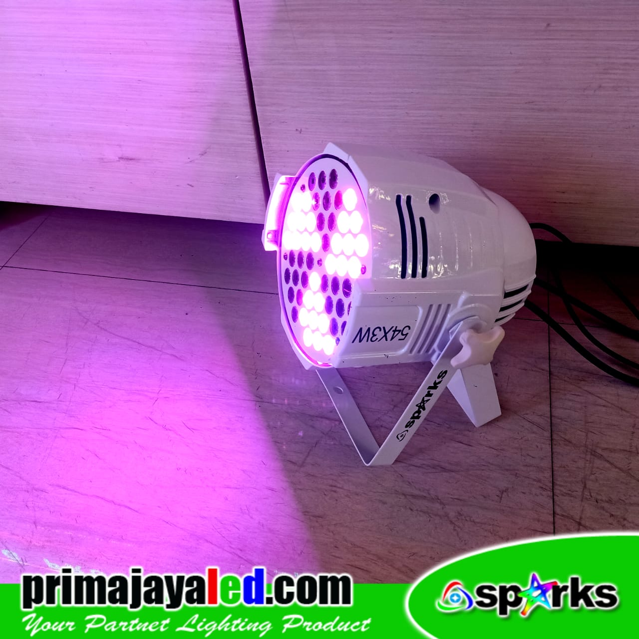 Lampu Par 54 RGB Fan Effect Spark