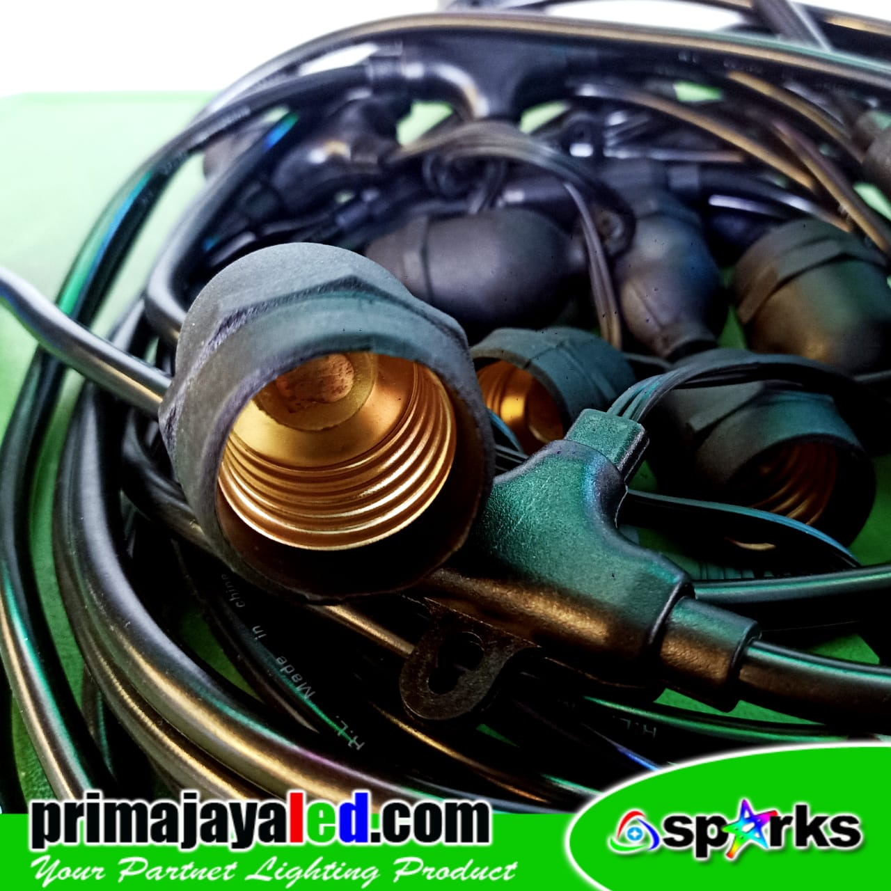 Kabel String Fitting Gantung 10 Meter