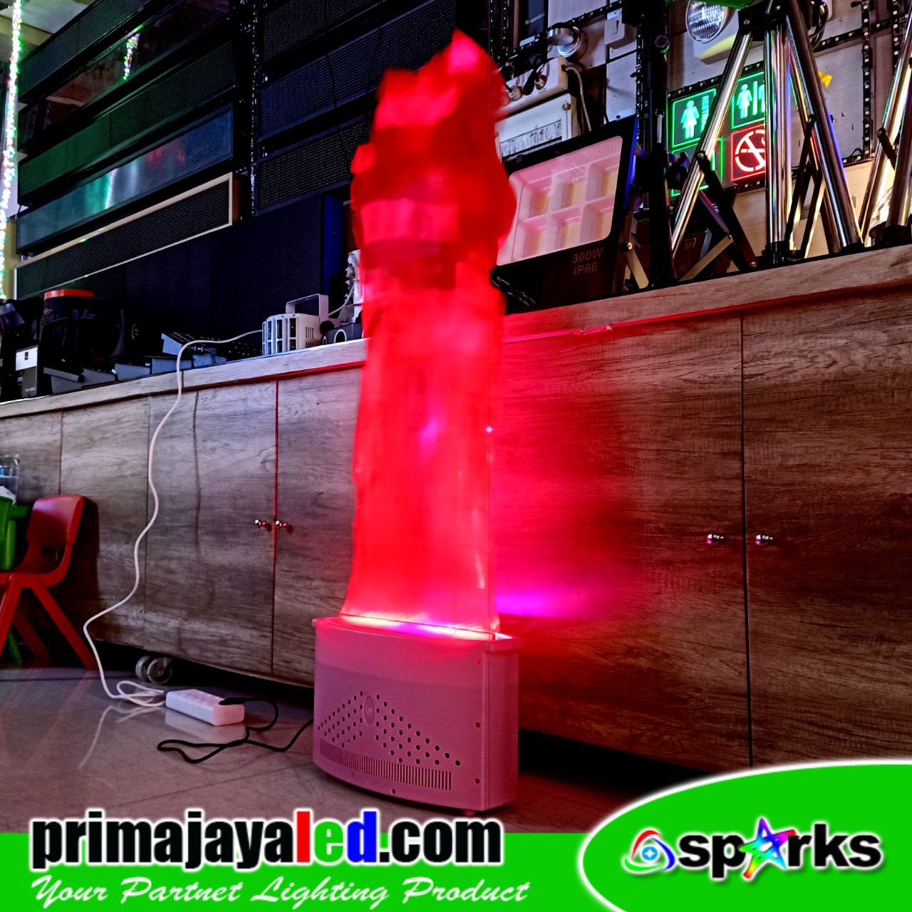 LED Flame Obor Merah